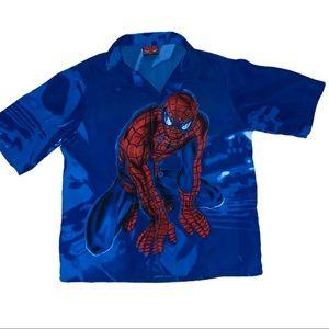 2/$40 Spider Man Boys Button Down Shirt